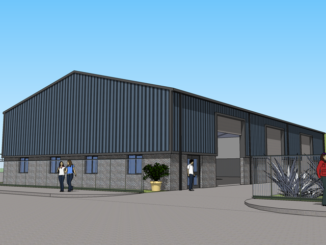 One of our select case studies: Artistic impression of proposed industrial unit