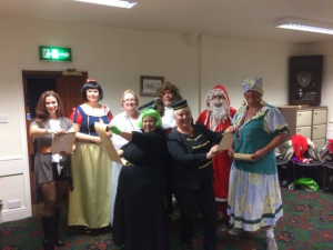 The team at Blu Crew ready for Panto 2015